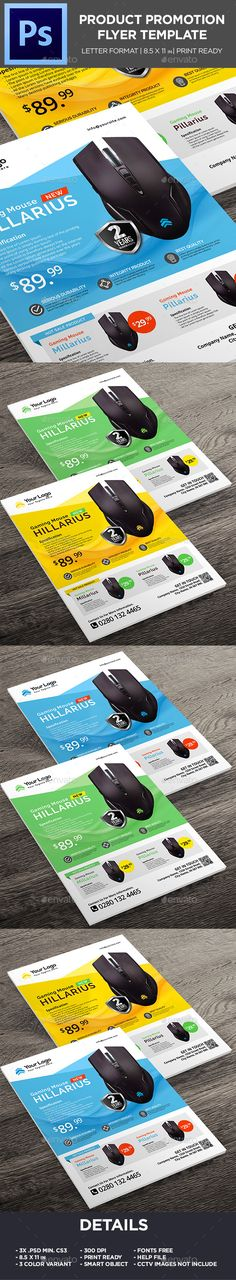 Product Flyer -  Mouse Gaming Promotion Flyer Template PSD