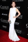 Julianne Moore in Givenchy white gown