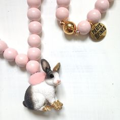 Pirates & Ponies Gold Bunny necklace
