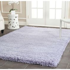 Safavieh Classic Shag Lilac 5 ft. x 8 ft. Area Rug-SG140L-5 - The Home Depot