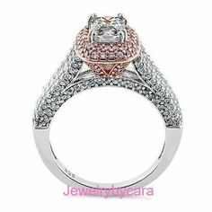 Absolutely GORGEOUS!!!! NEW Sterling Silver and 14K Rose Gold Plated Clear and PINK CZ Ring!!!! $50 DL-SRZ5967 *available in whole sizes 5-10 *Center Radiant CZ measures 7.1 x 5.4mm www.facebook.com/groups/jewelrybycara