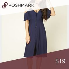 Forever 21 Off The Shoulder Dress Forever 21 Contemporary Off The Shoulder Dress in Navy Blue. Brand new with tags Forever 21 Dresses Midi