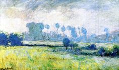 Claude Monet (1840-1926) - Meadow at Giverny, Morning Effect - 1888 - Private collection