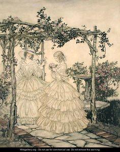 Impressive Fantasy Artworks by Arthur Rackham. Arthur Rackham, Westminster, Images Esthétiques, Fairytale Art, Fantasy Artwork, Conte, Vintage Art, Vintage Prints, New Art