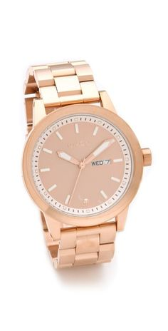 rose gold Nixon the spur