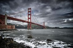 """Amongst a series of travel photos submitted to msnbc.com, this one of the Golden Gate Bridge in San Francisco is amongst the most """"stunning.""""  Photograph by Ed Bolt"""