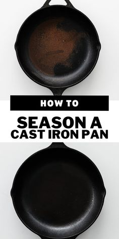Have an old rusty cast iron skillet? No need to throw it away because it's incredibly easy to restore and season back to its glory days. Once it's good to go it's even easier to keep clean after using. #castiron Rusty Cast Iron Skillet, Season Cast Iron Skillet, Cast Iron Skillet Cooking, Cast Iron Wok, Cast Iron Cookware, Iron Skillet Cleaning, Cleaning Cast Iron Pans, Restore Cast Iron, Carbon Steel Pan