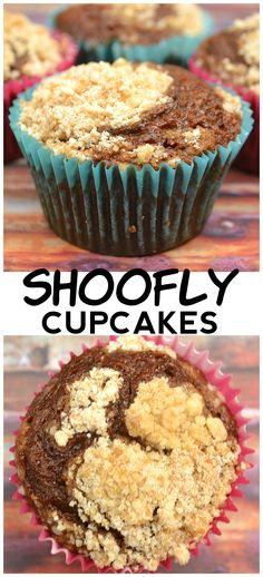 Shoofly Cupcakes. A sweet, moist molasses PA Dutch / Amish / Lancaster favorite made into fun little cakes. Vegan friendly | www.craftycookingmama.com