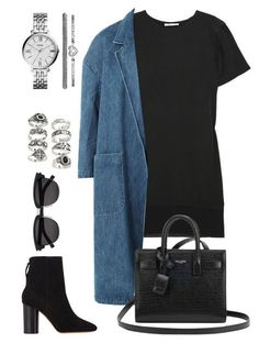"""Untitled #1765"" by kellawear on Polyvore featuring T By Alexander Wang, Sandy Liang, Isabel Marant, Yves Saint Laurent, FOSSIL and Forever 21"