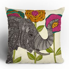 Sometimes the word design seems so very… serious. But the best designs are sometimes the ones that add a little bit of delightful levity to your every day. This printed throw pillow will add color and fun to your couch backs and chair cushions, one case at a time.