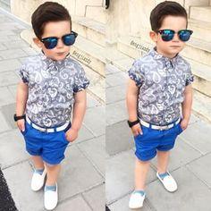 @engjiandy - Buscar con Google Baby Boy Hairstyles, Baby Boy Haircuts, Toddler Boy Fashion, Toddler Boy Outfits, Fashion Kids, Outfits Niños, Kids Outfits, Cute Baby Boy Photos, Kid Swag
