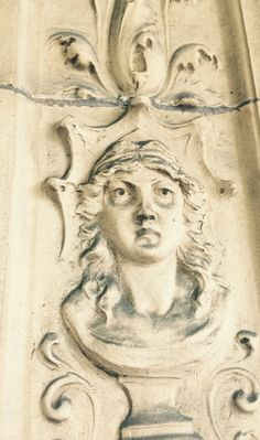 Detail of fresco outside of Millicent Library