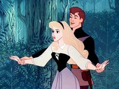Aurora and Prince Phillip in Sleeping Beauty, best moment ever <3