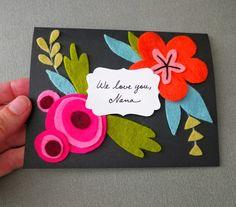 mmmcrafts: make a felt bouquet card for mom