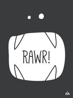 """Cuadro """"Rawr"""" para el cuarto de los chicos :)  Encontralo en www.kermesseaccesorios.com.ar"""