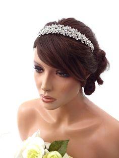 Exquisite Bridal Prom Tiara Victorian Crystal Fascinator Headband Hair Band