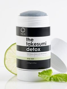 Takesumi Detox Deodorant | Detoxify the skin while naturally absorbing odor with this first-ever bamboo charcoal deodorant. Crafted from a blend of Certified Vegan ingredients, this aluminum-free formula uses a time-honored Japanese tradition to promote dryness while deodorizing.    * 2.29 oz.   * Intended for all skin types.   * Juicy Bamboo: Citrus Scent.   * Cold-Pressed Rose: Floral Scent.   * Lime Mint: Fresh Scent.   * **How to Use:** Apply to underarm as needed.