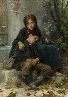 Out in the Cold, Léon Bazile Perrault (1832-1908)