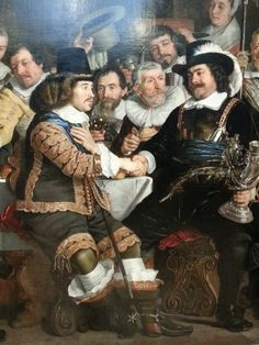 Detail of: Banquet at the Crossbowmen's Guild in Celebration of the Treaty of Munster, by Bartholomeus van der Helst, 1648. Rijksmuseum Amsterdam