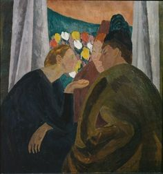 'Conversation' (1913-16) by English painter & Bloomsbury founder Vanessa Bell (1879-1961). via Figuration Feminine