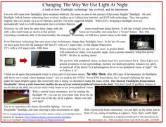 This image explains why we, at FNG Innovations, are working to change the way we use light in the dark.  Our goal is to make night time activities safer for all!