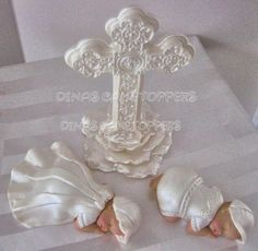 TWINS Boy Baptism Christening Baby Cake Topper by DinasCakeToppers, $65.00