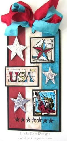FRIENDS in ART: Stars and Stripes - A 4th of July Tag