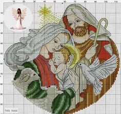 Natal Xmas Cross Stitch, Cross Stitch Needles, Cross Stitch Cards, Counted Cross Stitch Patterns, Cross Stitch Designs, Cross Stitching, Cross Stitch Embroidery, Religious Cross, Jesus On The Cross