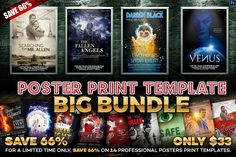 Poster Print Templates - Big Bundle  @creativework247