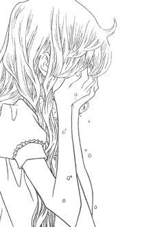 Image via we heart it crying girl manga manhwa nocturne pain. Crying Girl Drawing, Anime Girl Crying, Sad Anime Girl, Manga Girl, Anime Love, Manga Anime, Anime Art, Cartoon Drawings Of People, Cartoon Girl Drawing