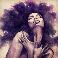 Pin by herta on art art, black art, natural hair art. Art Black Love, Black Girl Art, Art Girl, Natural Hair Art, Natural Hair Styles, Natural Beauty, Art Afro Au Naturel, Arte Black, Black Artwork