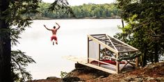 A platform for nature naps and lake leaps in Ontario