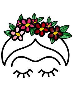 Frida Kahlo Art Print by The Midnight Bruja - X-Small Kahlo Paintings, Frida Art, Painted Flower Pots, Silhouette Art, Mexican Art, Art Prints, Lino Prints, Block Prints, Painted Rocks