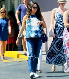 Mila Kunis Steps Out in Printed Tank Top Covering Pregnant Belly: Pics - Us Weekly