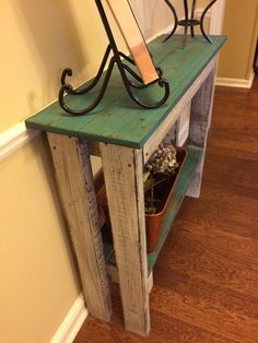 Distressed Pallet Table Reclaimed Wood Table Entry by RRMemphis