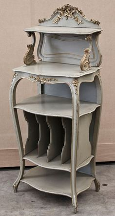 *~❤•❦•:*´`*:•❦•❤~* Antique Regence Painted Music Stand