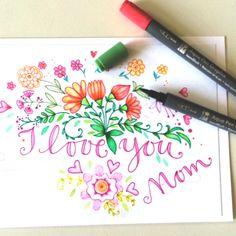 > Blumen zu Muttertag! Mit Aqua Pen Graphix| Marabu Kreativ