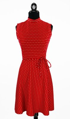 Vintage 1960s Gay Gibson Mod Red Polkadot by CeeLostInTime on Etsy