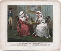 Telling Fortune in Coffee Grounds, April 10, 1790, Lewis Walpole Library Digital Collection