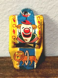 Rare Clown Tin Whistle 50s 60s ? . Japan from $24.95