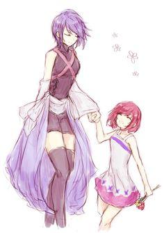 Aqua and little Kairi
