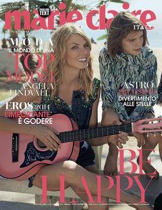 COVER  Angela Lindvall for Marie Claire Italia January 2014  Highlight Description Angela Lindvall for Marie Claire Italia January 2014