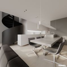 I036_tamizo_architekci_projektowanie-wnetrz-mieszkanie-loft-warszawa-06 Tamizo Architects, Conference Room, Kitchens, Houses, Living Room, Table, Furniture, Home Decor, Homes