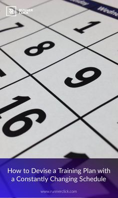 How to Make a Training Plan with a Constantly Changing Schedule