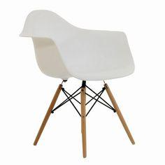 Charles Eames Inspired Eiffel DAW White Dining Chair