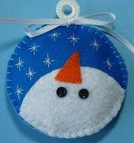 Snowman Face Ornament