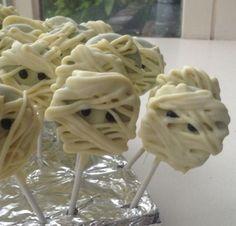 Halloween traktatie; mummie lollies!