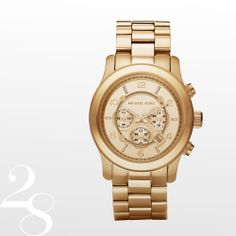 Michael Kors Golden Oversized Runway Watch. $275. #loveNatickMall