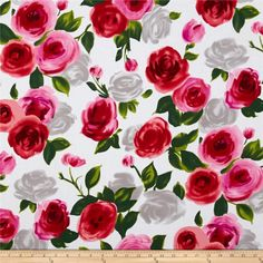 Michael Miller on the Town Marilyn Red from @fabricdotcom  Designed for Michael Miller, this cotton print fabric is perfect for quilting, apparel, and home decor accents. Colors include red, grey, green, red and pink.