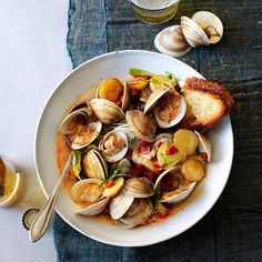 ... about Shellfish recipe on Pinterest | Bon Appetit, Clams and Mussels
